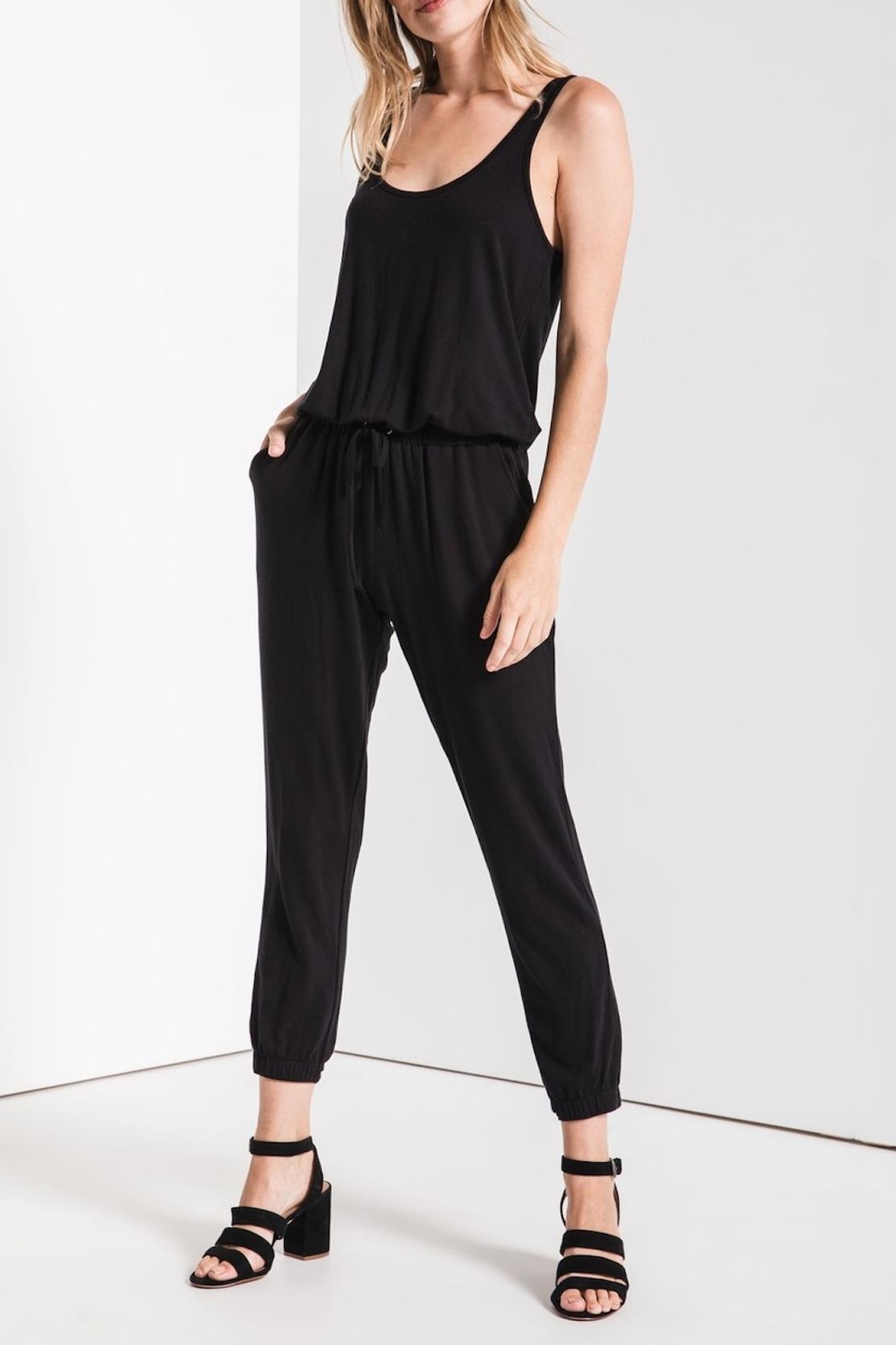 Apricot Lane Tank Jogger Jumpsuit - Front Cropped Image