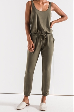 z supply Tank Tie Waist Jogger Jumpsuit - Product List Image