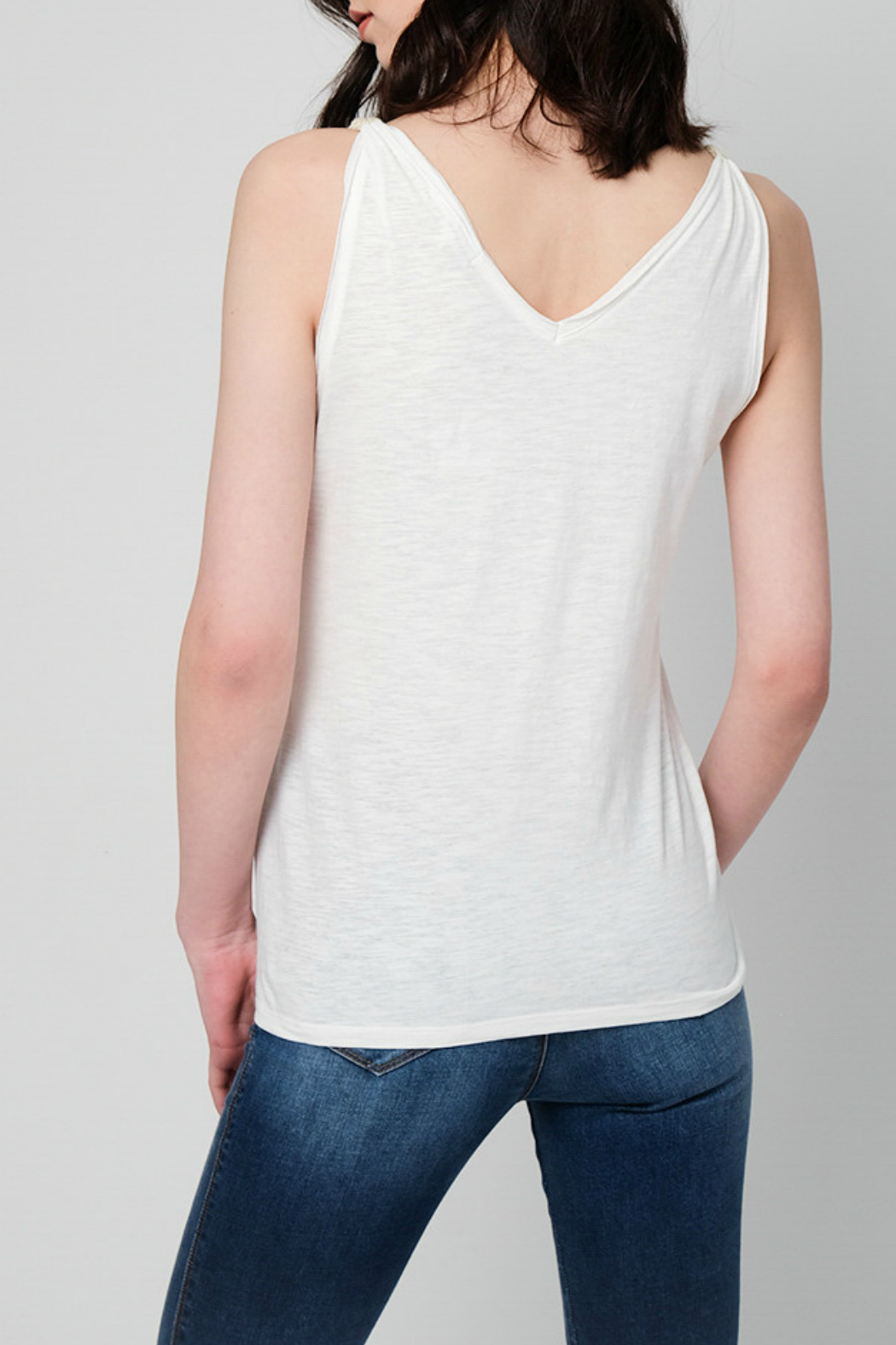 Best Mountain Tank with Gold Shoulder Band - Front Full Image
