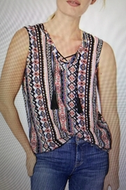 Tribal Jeans Tank With Tassels - Product Mini Image