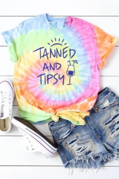 OCEAN & 7TH Tanned & Tipsy graphic tee - Alternate List Image