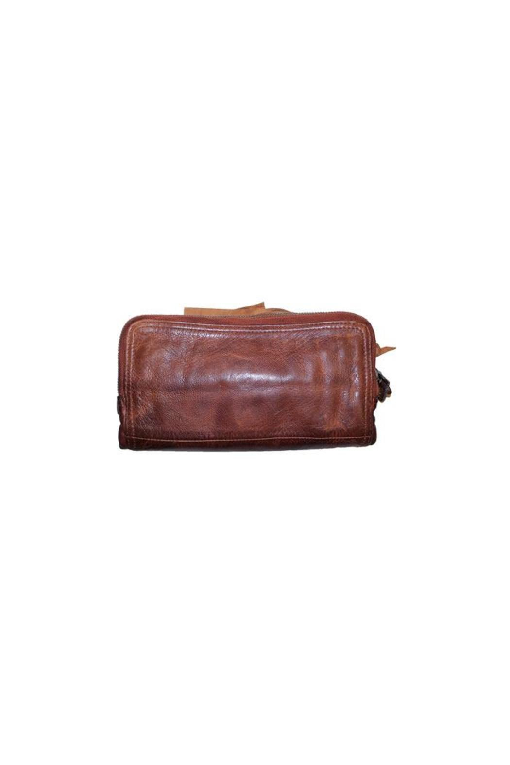 Tano Distressed Leather Wallet - Side Cropped Image