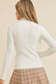 Paper Crane Tanya Pointed Ribbed Sweater - Back cropped