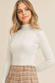 Paper Crane Tanya Pointed Ribbed Sweater - Front full body