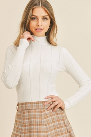 Paper Crane Tanya Pointed Ribbed Sweater - Front cropped