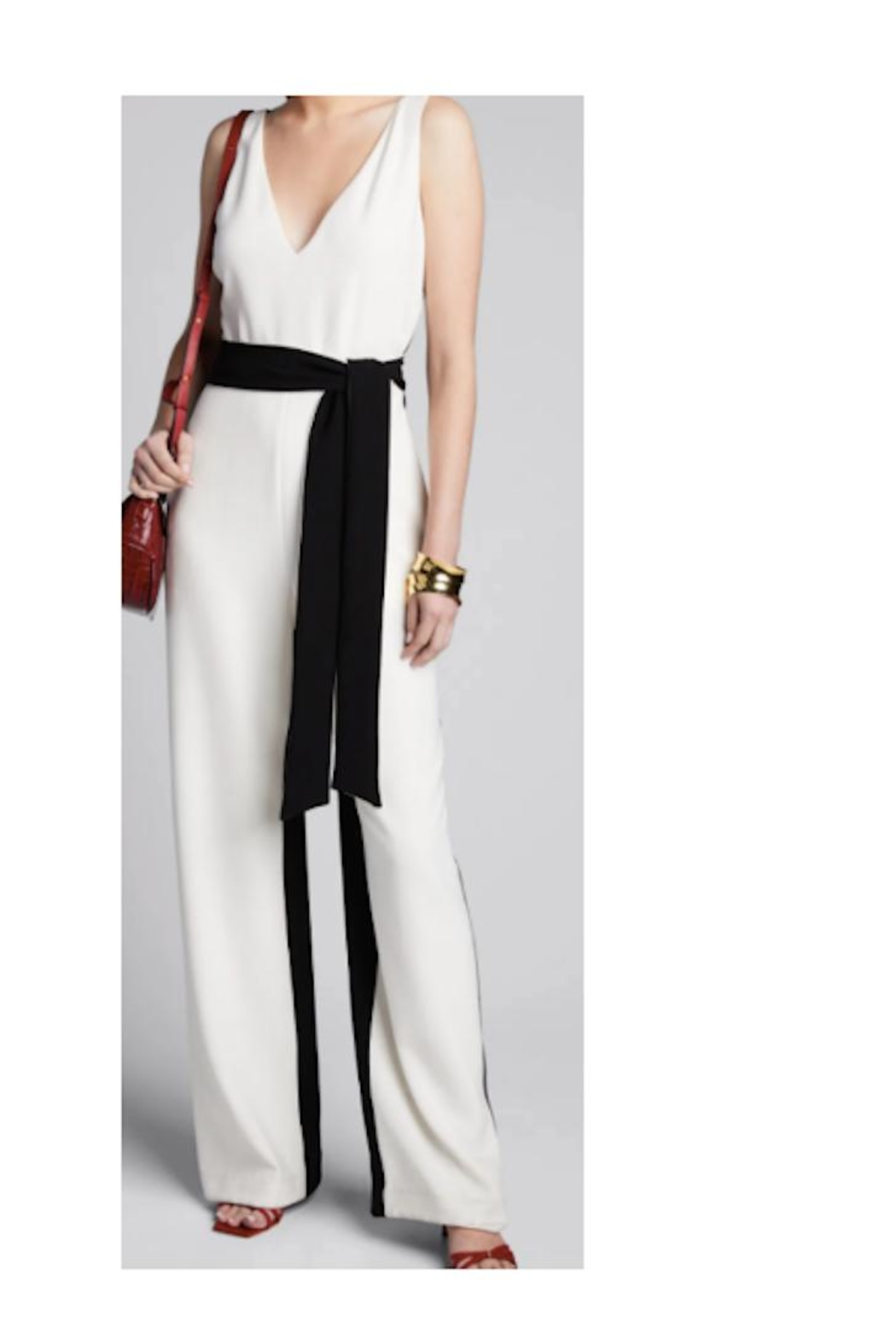 Tanya Taylor Jetta Two-Toned Jumpsuit - Main Image