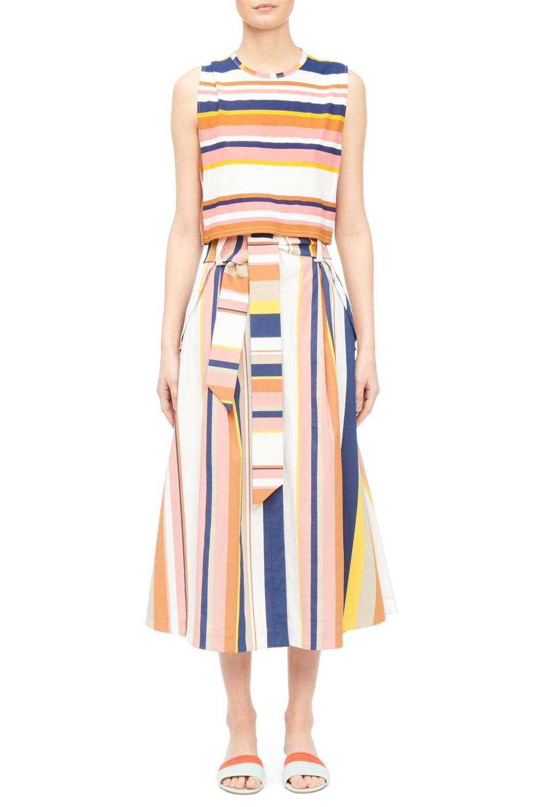 Tanya Taylor Striped Crop Top - Front Cropped Image