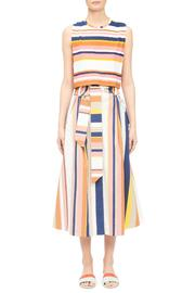 Tanya Taylor Striped Crop Top - Product Mini Image
