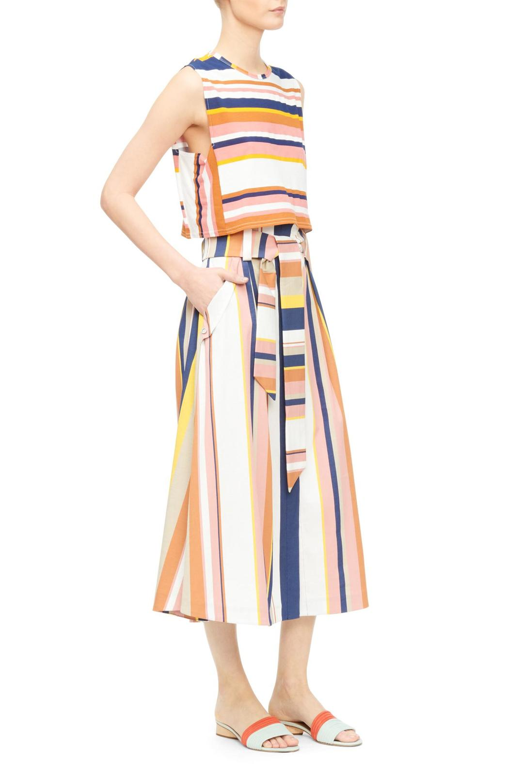 Tanya Taylor Striped Crop Top - Front Full Image