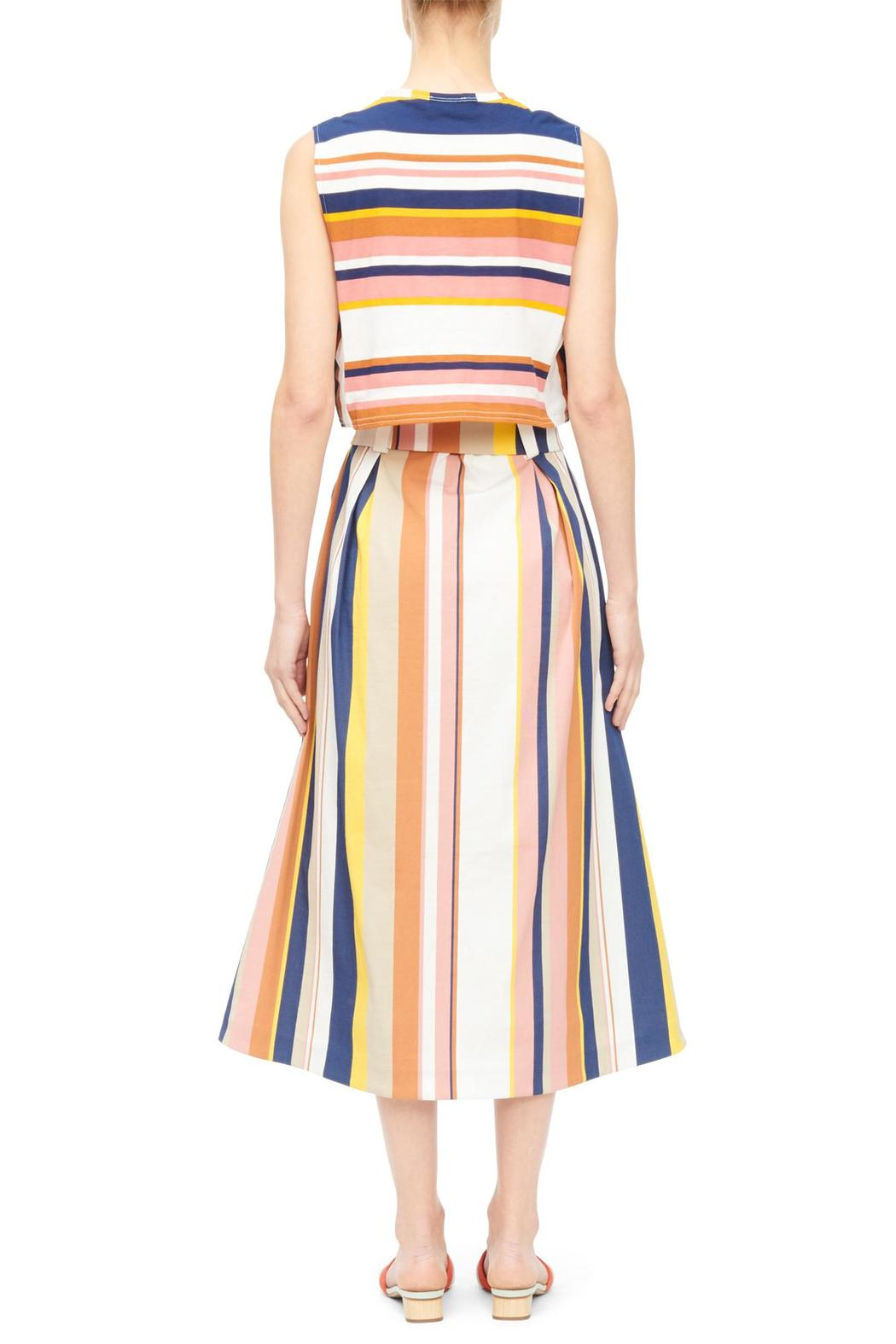 Tanya Taylor Striped Crop Top - Side Cropped Image