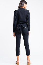 MONTREZ Tapered leg coverall cargo jumpsuit - Back cropped
