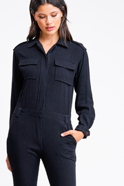MONTREZ Tapered leg coverall cargo jumpsuit - Side cropped