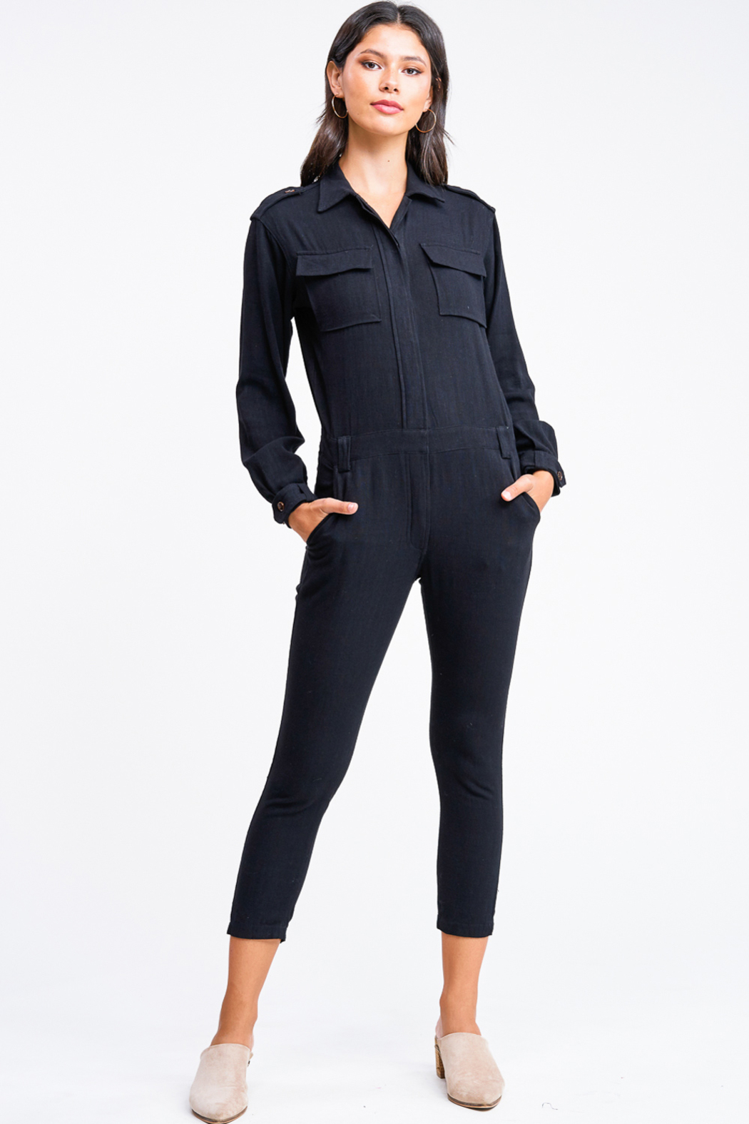 MONTREZ Tapered leg coverall cargo jumpsuit - Main Image