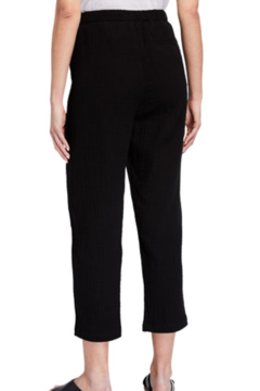 Eileen Fisher Tapered Organic Cotton Gauze Ankle Pants Black - Alternate List Image