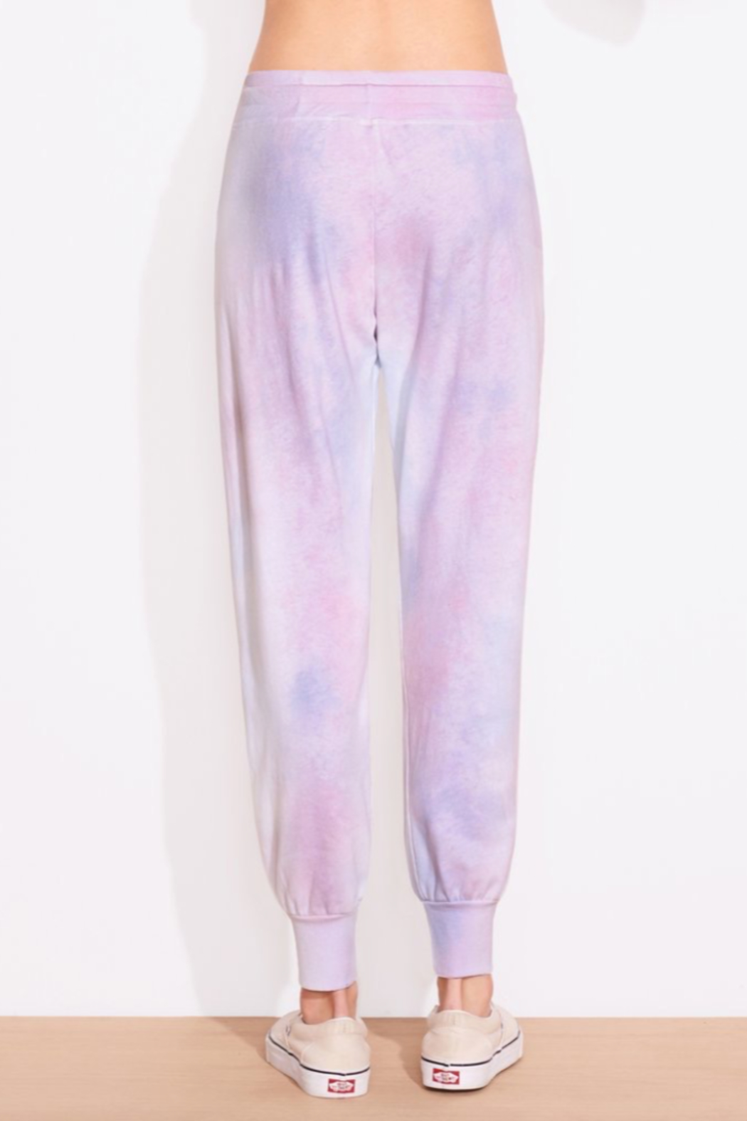 Sundry Tie Dye Tapered Sweatpant - Front Full Image