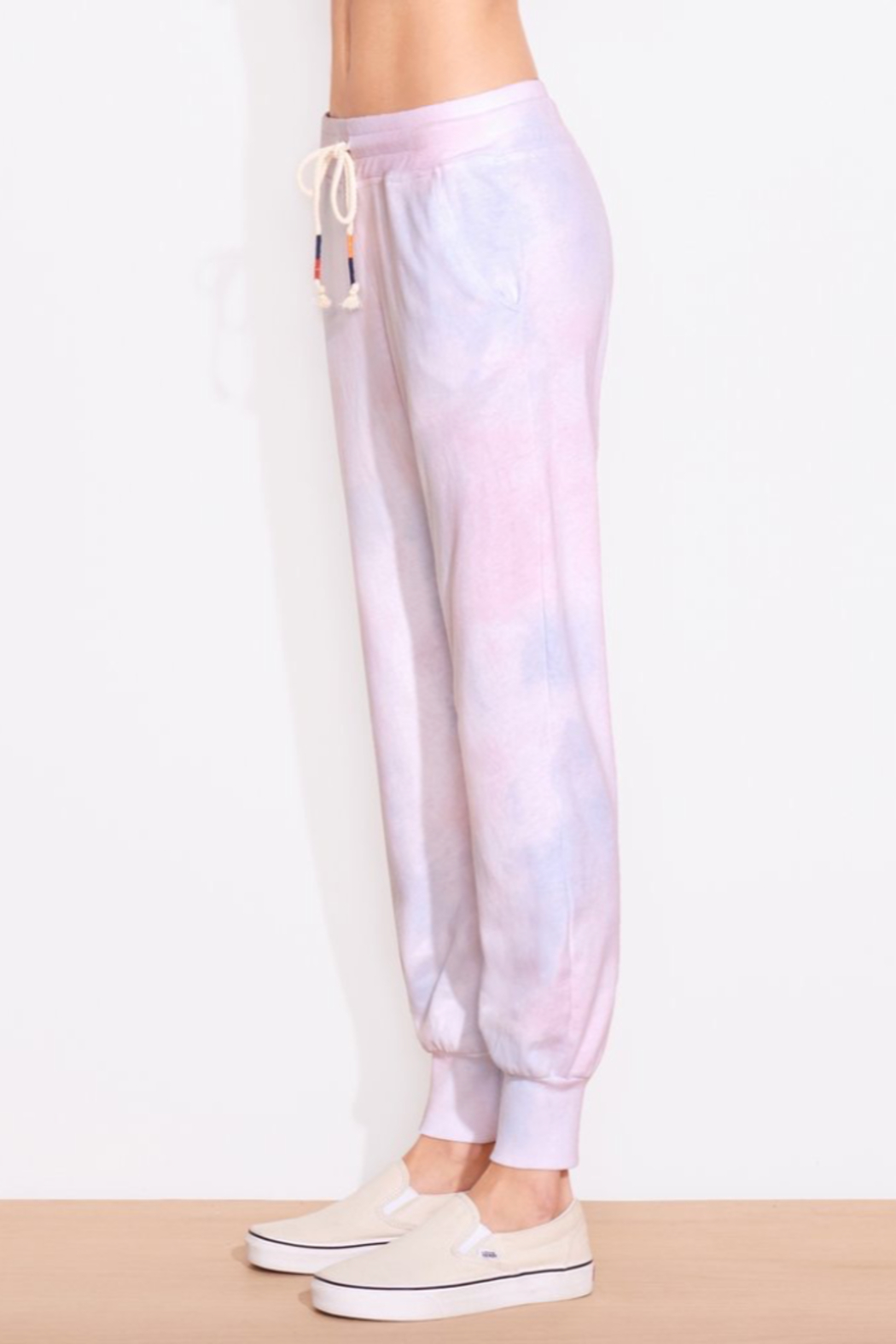 Sundry Tie Dye Tapered Sweatpant - Side Cropped Image