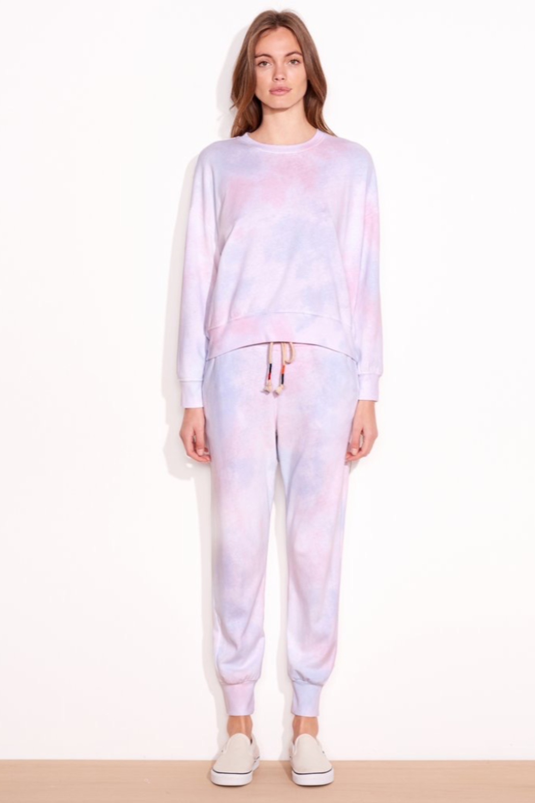 Sundry Tie Dye Tapered Sweatpant - Back Cropped Image