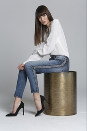 Driftwood Tapestry Side Stripe Denim - Front cropped