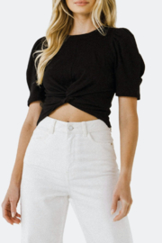 Endless Rose Tara Twisted Cropped Knit Top - Product Mini Image