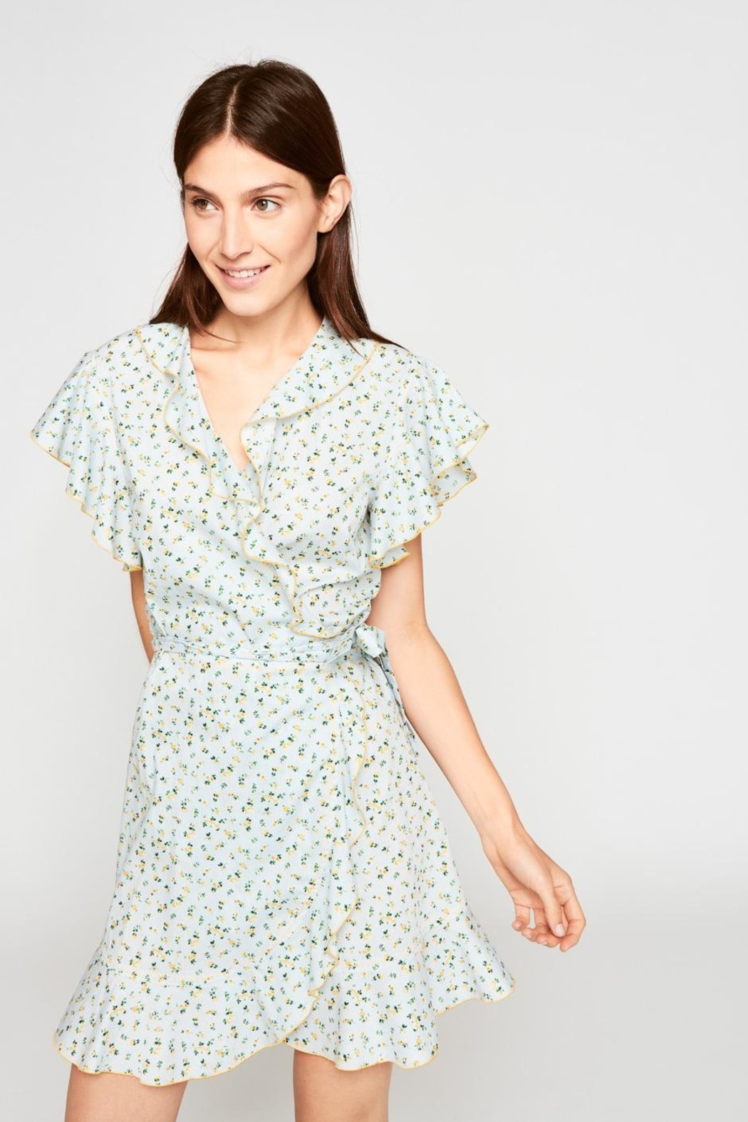 Tara Jarmon Floral Ruffled Dress - Front Cropped Image