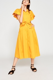 Tara Jarmon Saffron Poplin Dress - Product Mini Image