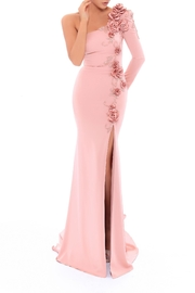 Tarik Ediz Floral Evening Gown - Product Mini Image