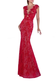 Tarik Ediz Mirian Lace Gown - Product Mini Image