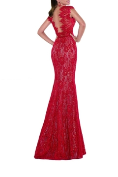 Tarik Ediz Mirian Lace Gown - Alternate List Image