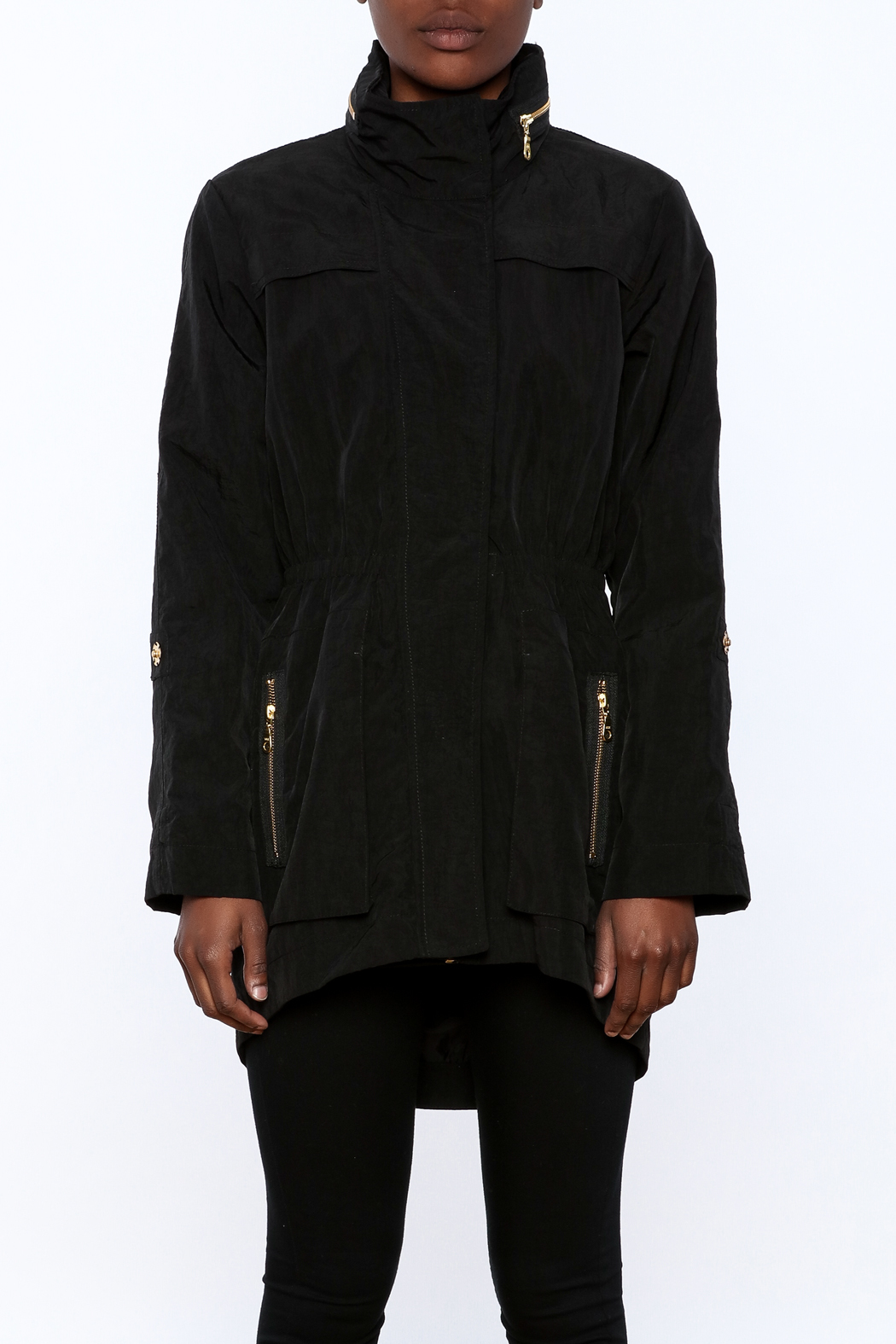 Tart Collections Black Long Jacket - Side Cropped Image