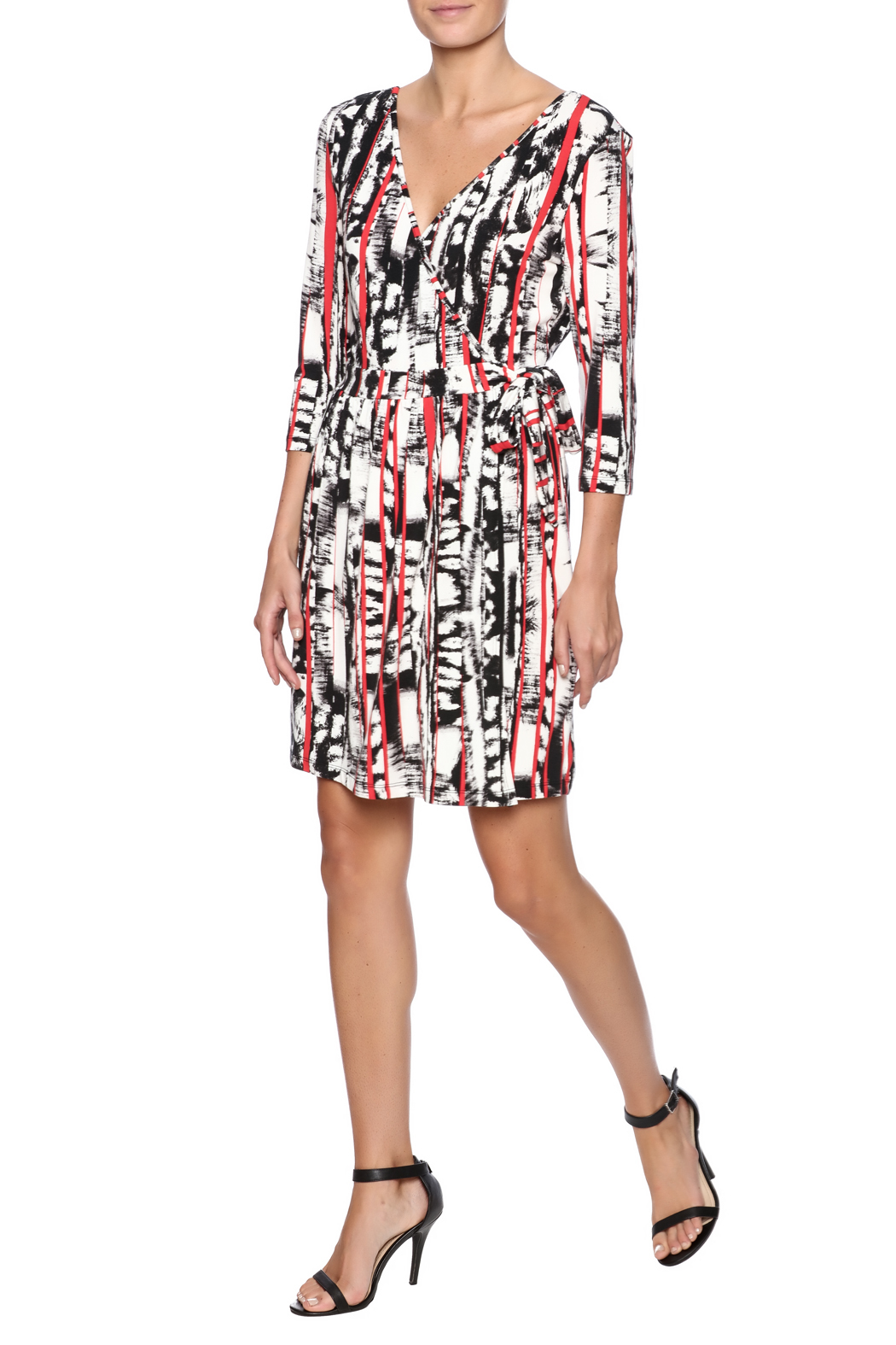 Tart Collections Printed Wrap Dress - Front Full Image