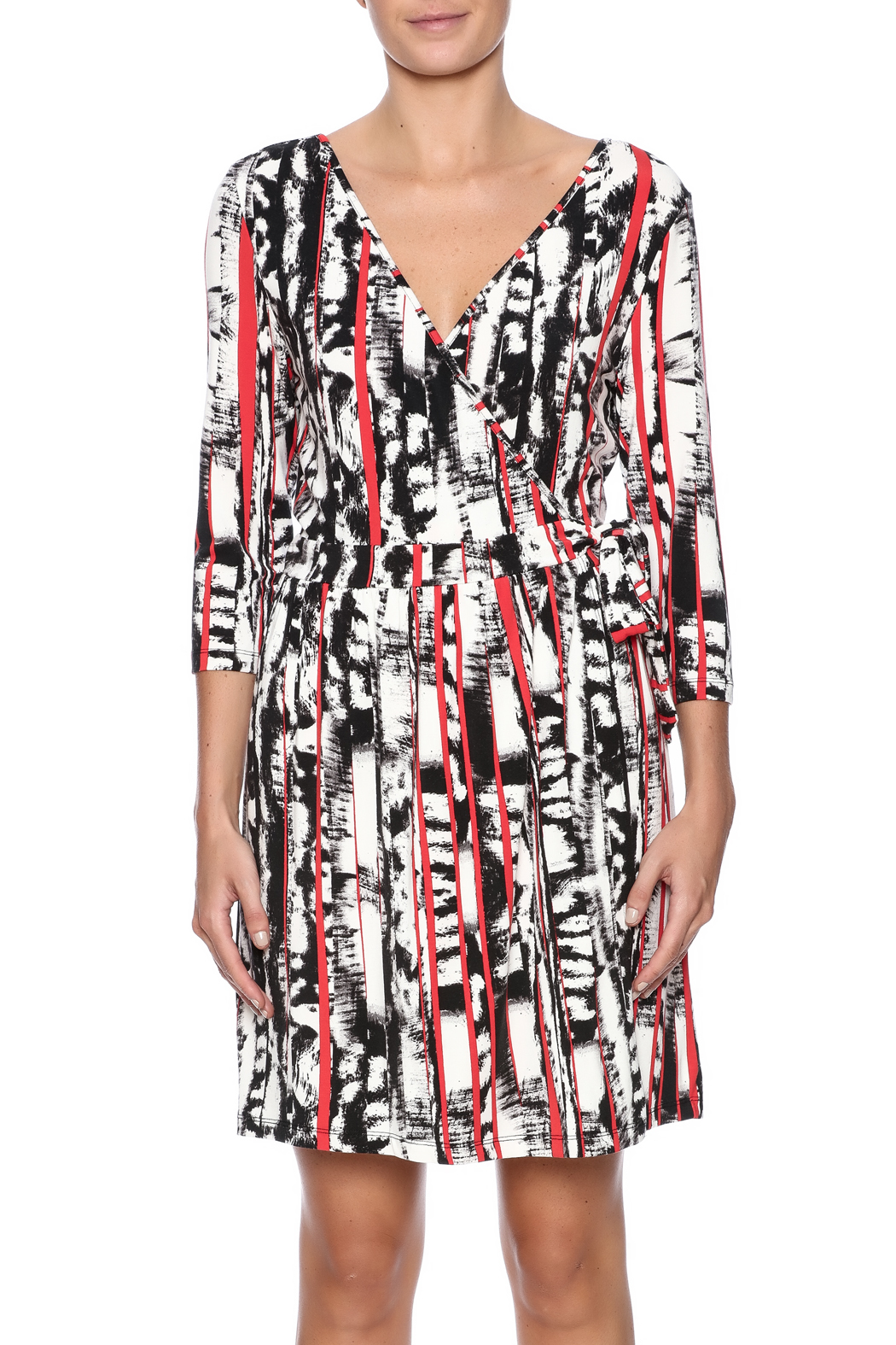 Tart Collections Printed Wrap Dress - Side Cropped Image