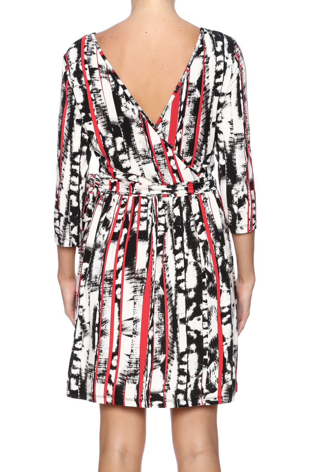 Tart Collections Printed Wrap Dress - Back Cropped Image