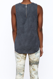 Tart Collections Grey Sleeveless Top - Back cropped