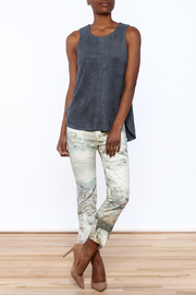 Tart Collections Grey Sleeveless Top - Front full body