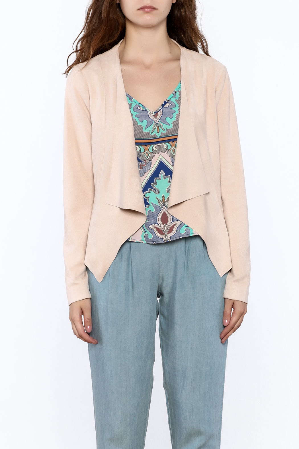 Tart Collections Open Front Jacket - Side Cropped Image