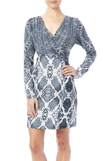 Shoptiques Product: Faux Wrap Dress - main