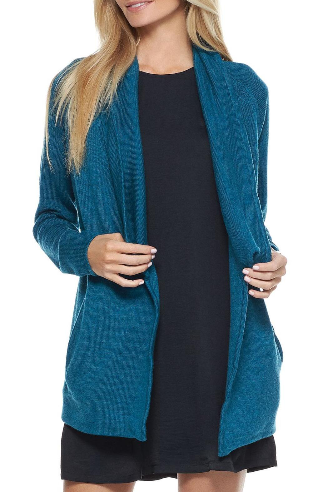 Tart Clothing Teal Sweater Coat from Montana by Fifty Seven ...
