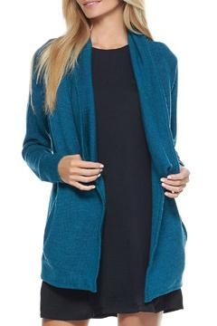 Shoptiques Product: Teal Sweater Coat