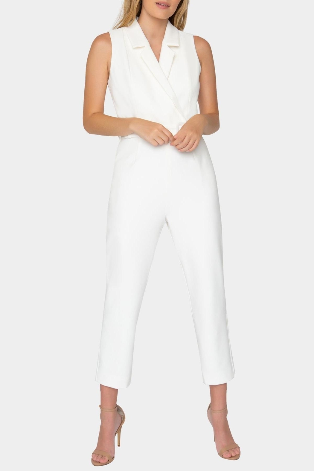 Tart Collections Belted Jumpsuit - Front Cropped Image