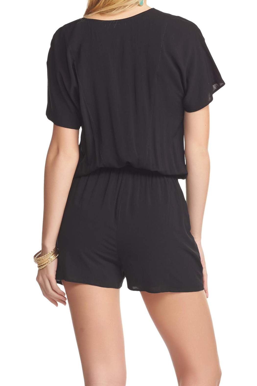 Tart Collections Black Romper - Front Full Image
