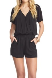 Tart Collections Black Romper - Front cropped