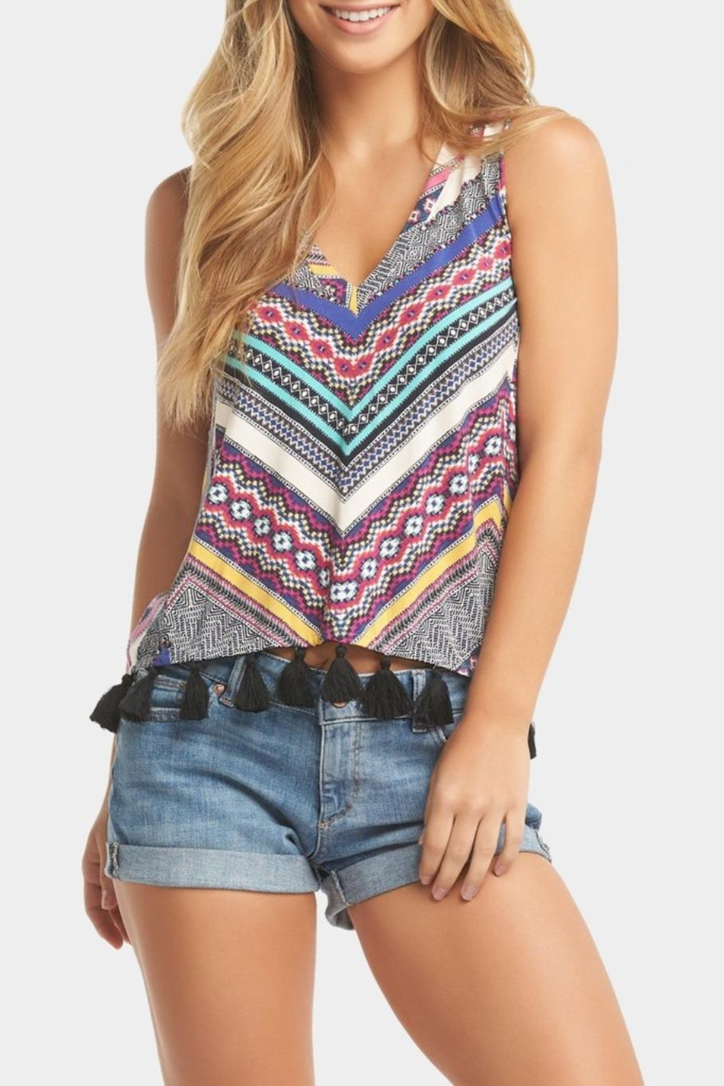 Tart Collections Color Tassel Tank - Main Image