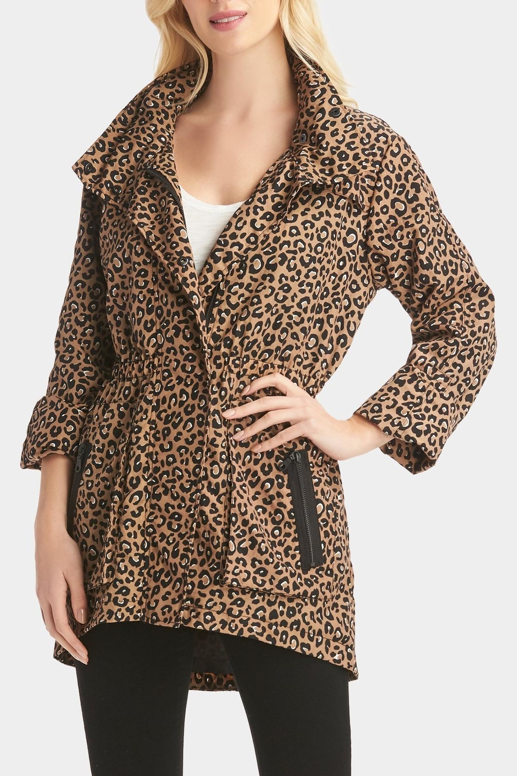 Tart Collections Leopard Printed Anorak - Main Image