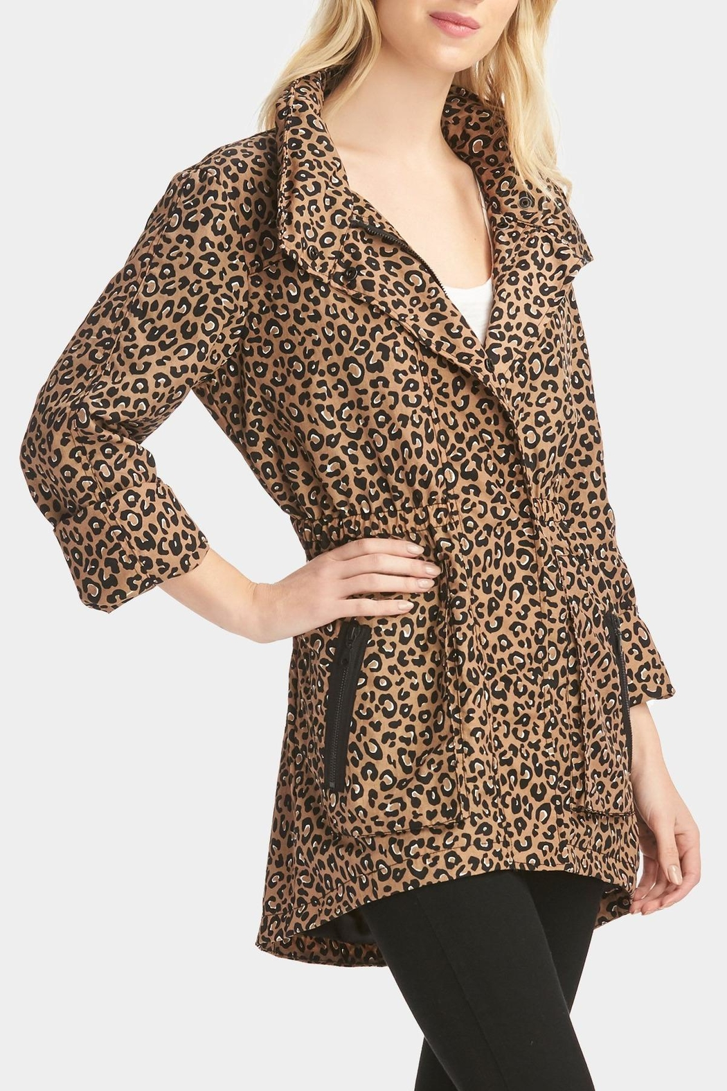 Tart Collections Leopard Printed Anorak - Front Full Image