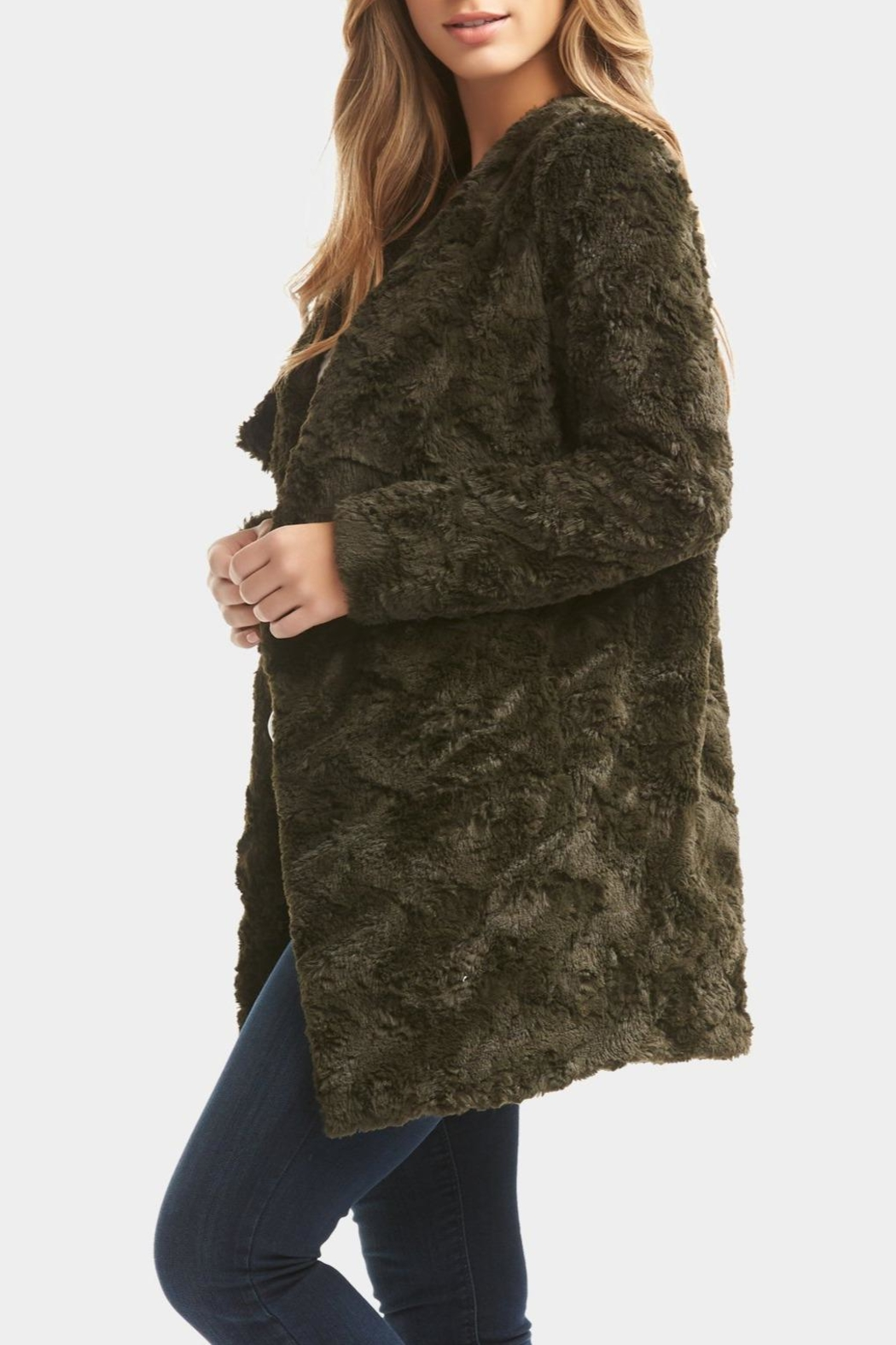 Tart Collections Olive Arabella Coat - Side Cropped Image