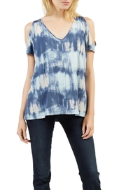 Tart Collections Blue Tie-Dye Top - Product Mini Image
