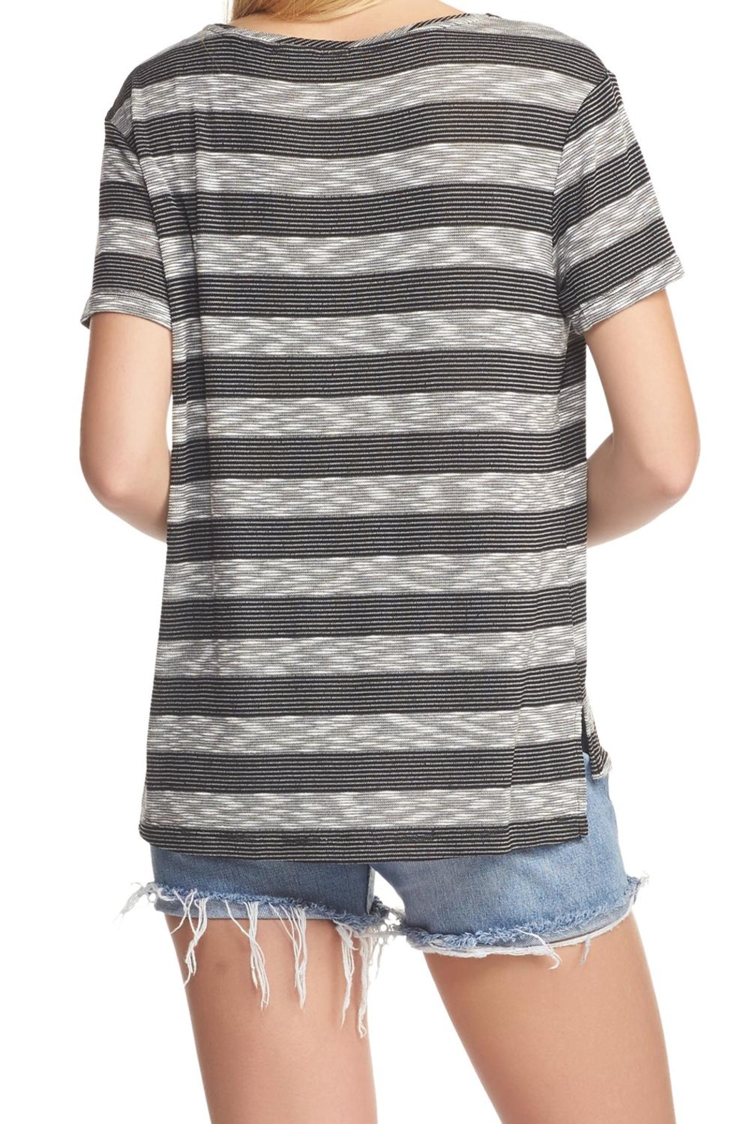 Tart Collections Striped Tee Top - Front Full Image