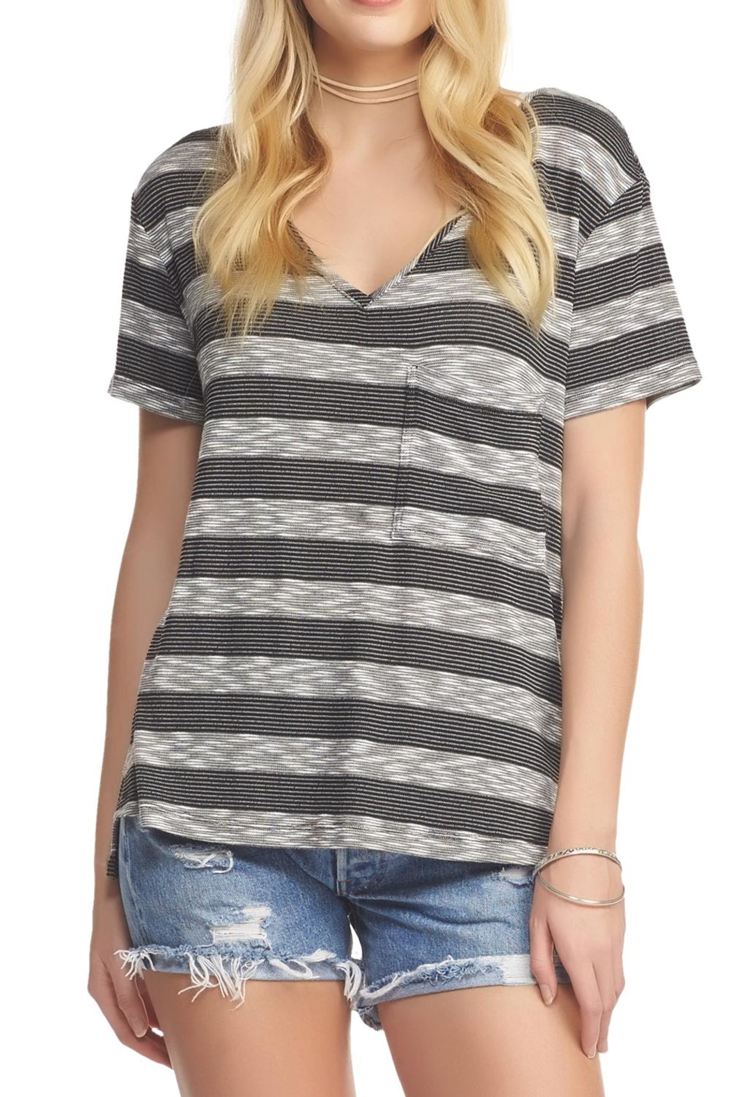 Tart Collections Striped Tee Top - Main Image
