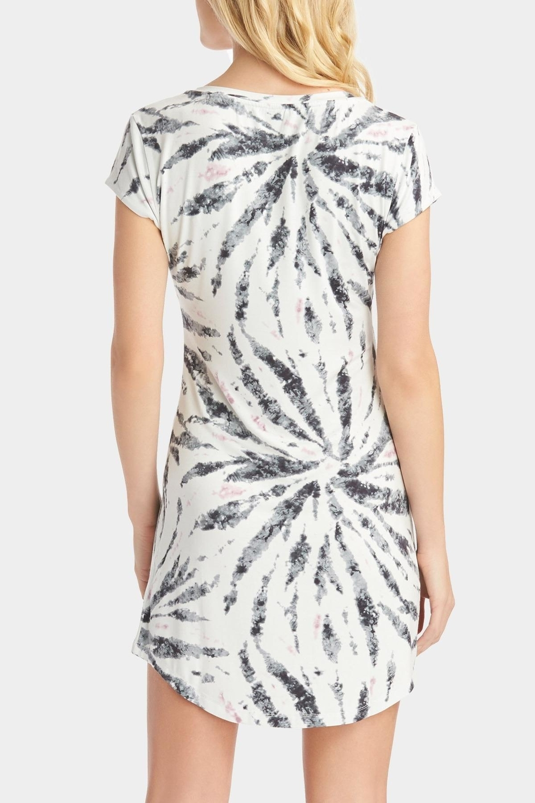 Tart Collections Tie Dye T-Shirt Dress - Side Cropped Image