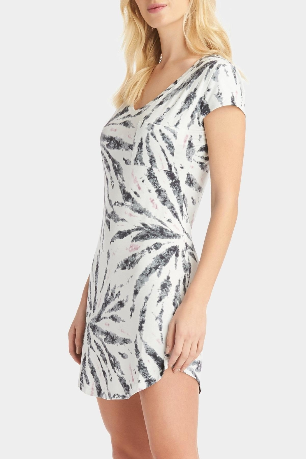 Tart Collections Tie Dye T-Shirt Dress - Front Full Image